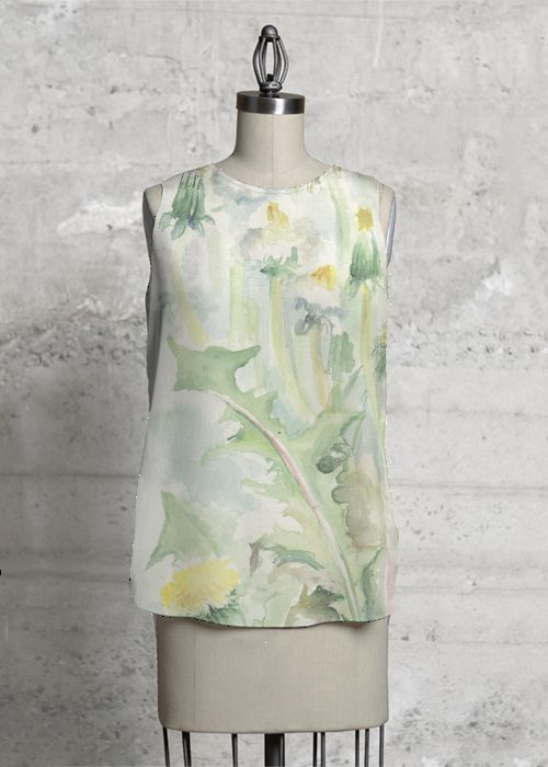 Meadow dandelions. Sleeveless top. #fashion #top #sleeveless #meadow #dandelions