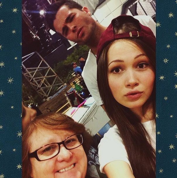 Photo: Kelli Berglund Hanging Out With Spencer Boldman And Maile Flanagan April 4, 2014