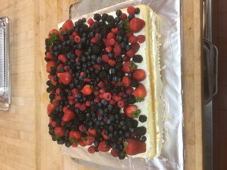 Naked slab cake