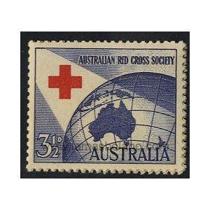 SELLOS DE AUSTRALIA 1954 - CRUZ ROJA AUSTRALIANA 40 ANIVERSARIO - 1 VALOR - CORREO