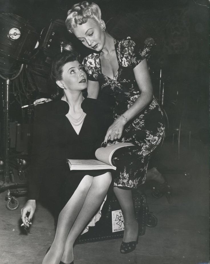 Carole Landis And Lenore Aubert T H E F A I R E R S E X