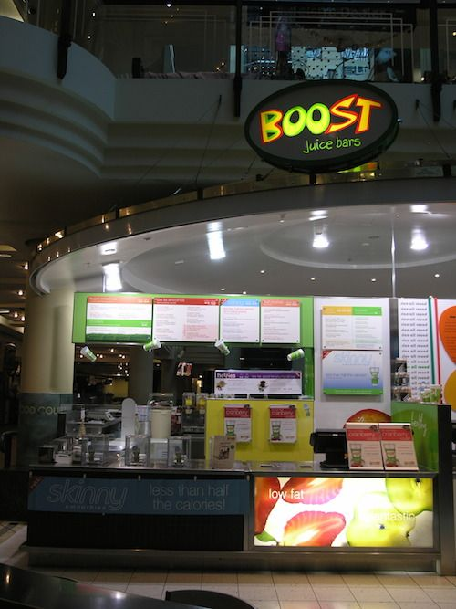 Boost Juice Bar - Australia on Collins. Teriann's business she owned for 3 years. She had 12 staff.