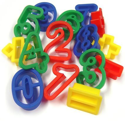 Rainbow Creations Number Cutters for Play Dough and Baking