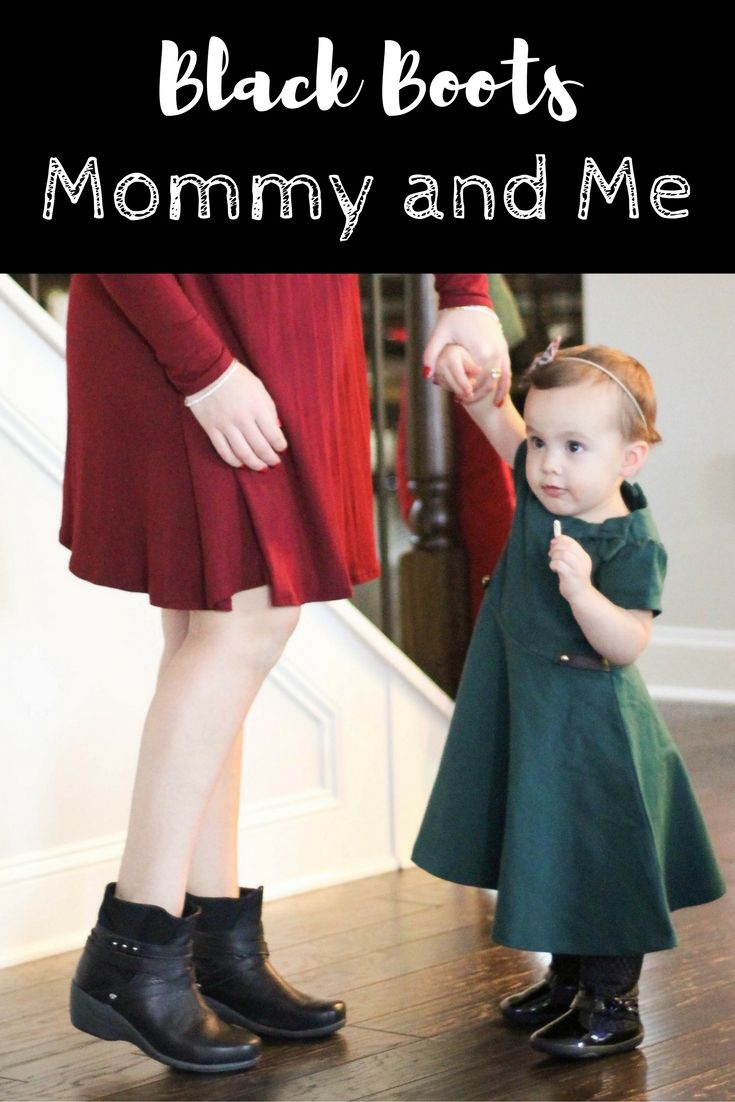 Mommy and Me Fashion | Winter Boots | Black Boots | 50% off | Winter Fashion | Comfortable Boots | Best Mom Boots | Best toddler and kid footwear | Busy Little Izzy Blog