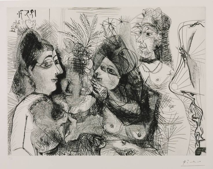 Pablo Picasso (1881‑1973)  Title  Etching: 19, 21, 23, 24, 26, 30, 31 May 1971, 2 June 1971 (L.130)
