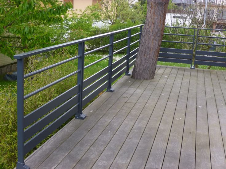 Garde-corps bois-inox - FC Terrasse Bois terrasse Pinterest - terrasse en bois suspendue prix