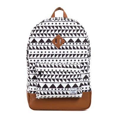 Herschel Heritage Backpack Chevron Black