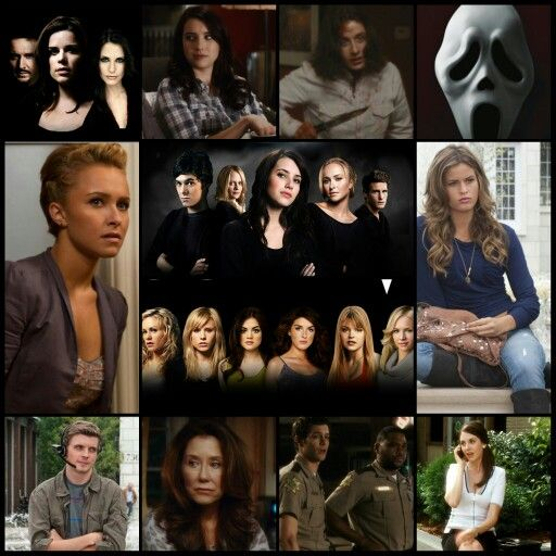 Scream 4, Cast, Characters, Hayden Panettiere, Kirby Reed, Anthony Anderson, Officer Perkins, Marley Shelton, Judy Hicks, Neve Campbell, Sidney Prescott, David Arquette, Dewey Riley, Courteney Cox, Gale Weathers, Emma Roberts, Jill Roberts, Rory Culkin, Charlie Walker, Nico Tortorella, Trevor Sheldon, Erik Knudsen, Robbie Mercer, Mary McDonnell, Kate Roberts, Adam Brody, Officer Hoss, Alison Brie, Rebecca Walters, Marielle Jaffe, Olivia Morris, Aimee Teegarden, Jenny Randall, Britt…