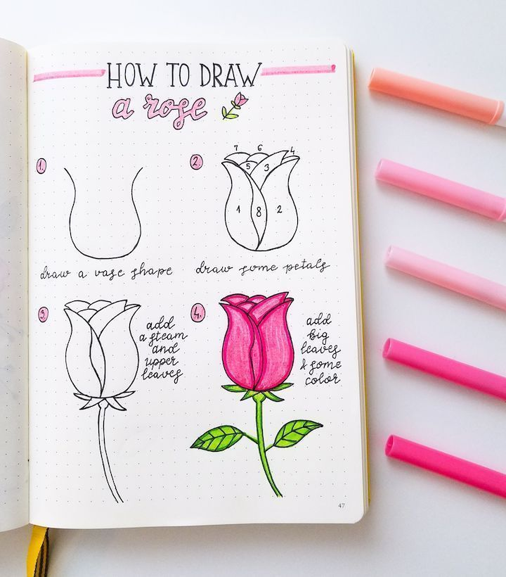 How to Draw Absolutely Cute Doodles in Your Bullet…