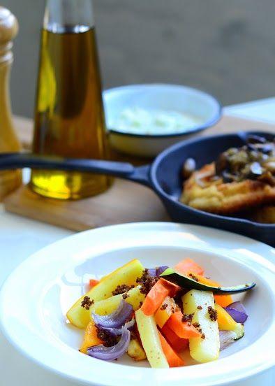Concordia Taste / Lunch / pieczone warzywa śródziemnomorskie / roasted Mediterranean vegetables