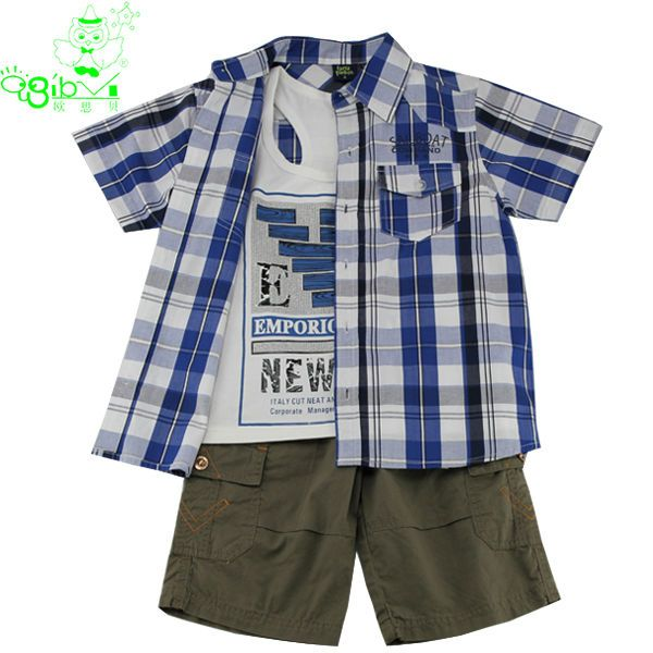 2014 3-piece boys clothing kids cotton clothing sets baby gorgeous outfits