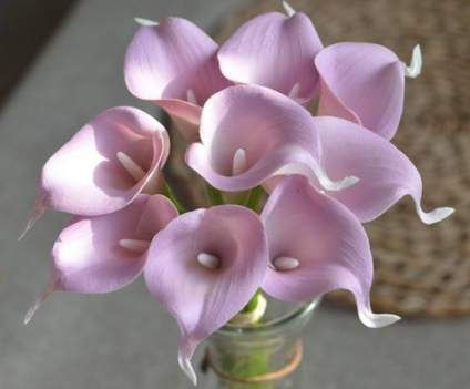 Wedding Bouquets Mauve Calla Lilies 53 Ideas Wedding Calla Lily Silk Wedding Bouquets Wedding Flower Decorations