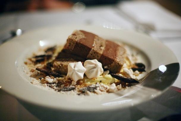 Frozen hazelnut, chocolate & meringue torte - Il Cacciatore Restaurant ...