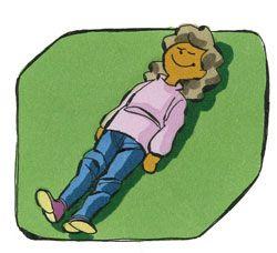 * Span en ontspan! Laat de kinderen in de ruimte op de grond gaan liggen, zodanig dat ze voldoende ruimte hebben om zich te bewegen, zonder een ander kind te raken. Geef vervolgens opdrachten