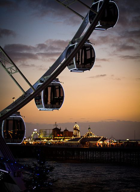 Brighton Wheel with a view of the Palace Pier