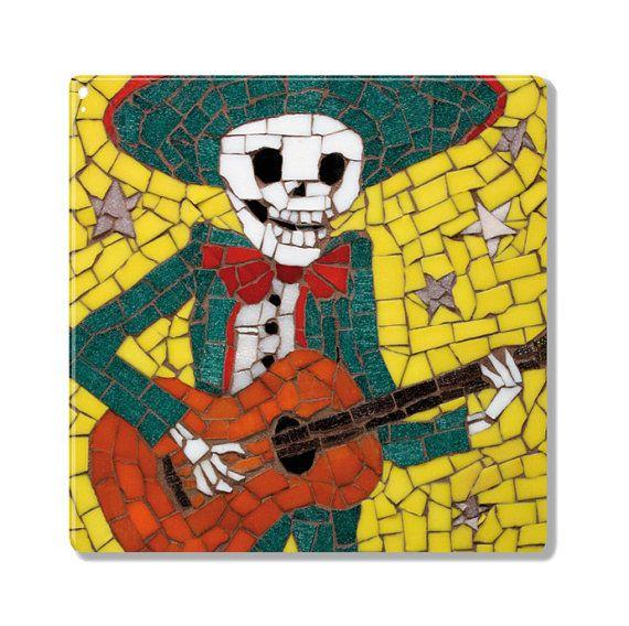 Coaster / Ceramic Tile Alberto is Dead  Mexican by JuanisDead, £12.00