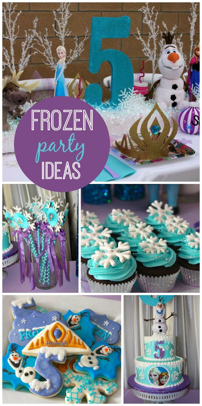 A Frozen girl birthday party with cupcakes, cookies and an amazing cake!  See more party ideas at CatchMyParty.com!