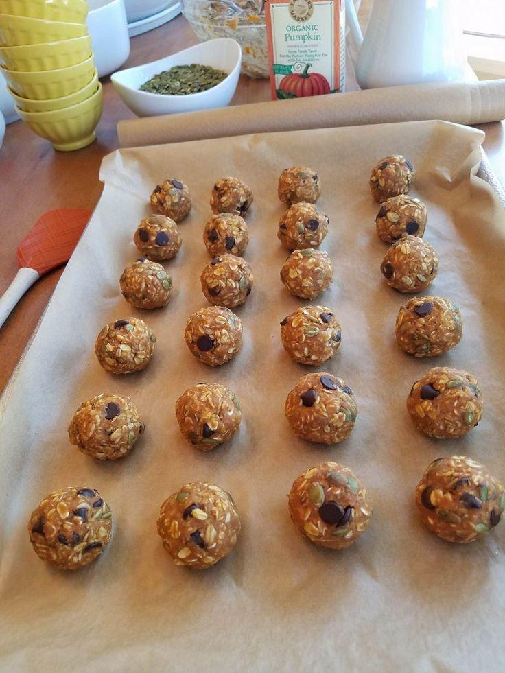 Double Pumpkin Dark Chocolate Energy Balls | Clean Food Crush