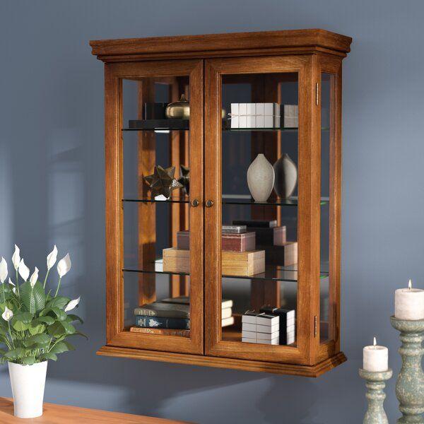 denya wall mounted curio cabinet haengevitrine glasregal