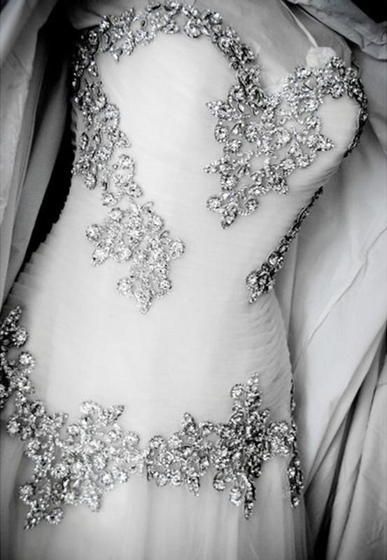 Love the bling on the top on these dress
