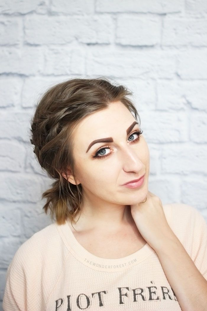 Messy Braided Ponytail for Shorter Hair - Tutorial   Wonder Forest: Design Your Life.