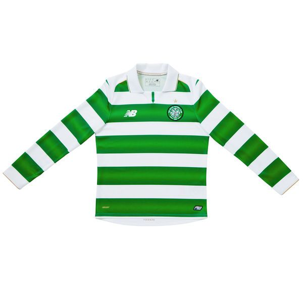 Celtic FC New Balance Youth 2016/17 Home Long Sleeve Jersey - White/Green - $69.99