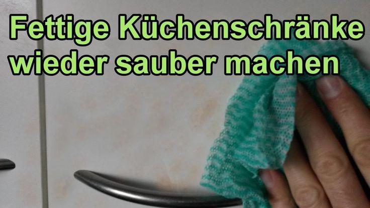 Fett von Küchenschränken entfernen – DIY Fettlöser selber machen / Küche...1 çay bardağı salata  sirkesi 1 kabartma tozu süngerle sil. 20 dakika bekleyip temizle.Kurut.
