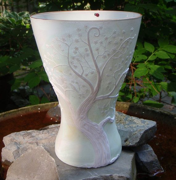 Recycled glass polymer clay vase clay vases pinterest for Recycled glass projects