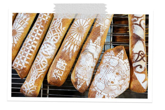 パラダイスアレイならではの独自なパンに描かれた模様が素敵!味ももちろん酵母を感じることができ、食べごたえがあるしっかりとしたパンです。