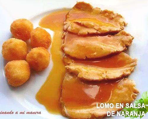 Lomo en salsa de naranja