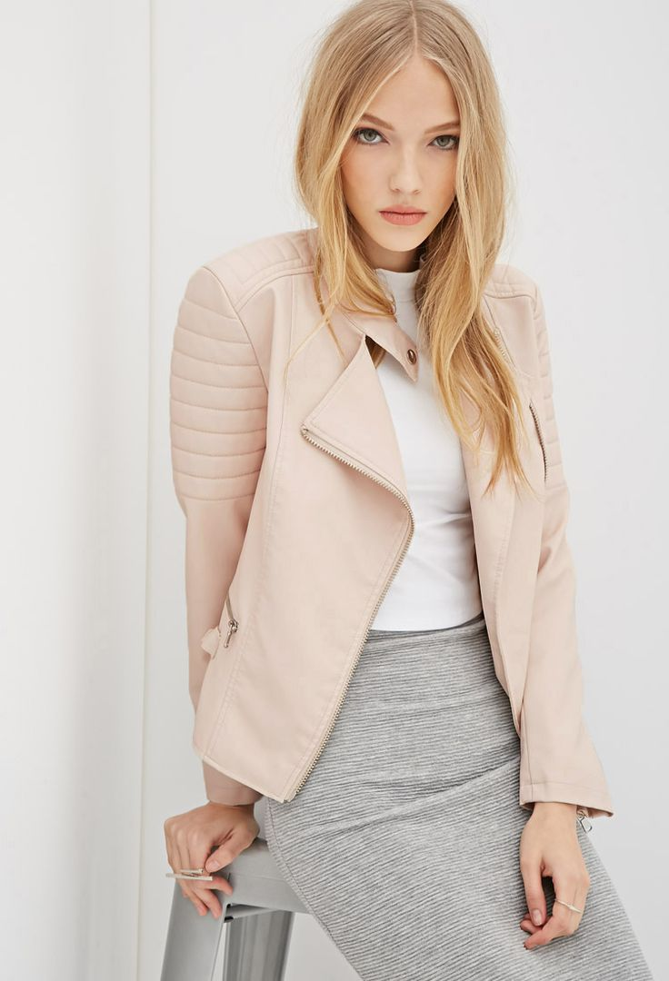 72 best how to wear light pink leather jacket images on Pinterest ...