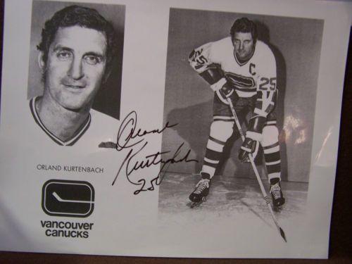 ORLAND KURTENBACH     AUTOGRAPHED  CANUCKS  PHOTO  in Sports Mem, Cards & Fan Shop, Autographs-Original, Hockey-NHL, Photos   eBay