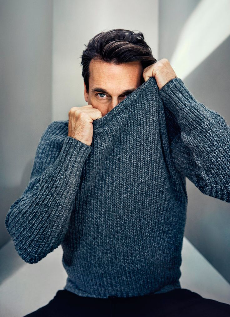 Jon Hamm for Mr Porter. Hello there, Don.