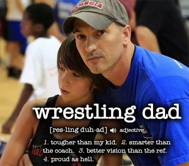 For the hubby,because he is proud as hell! ! But not add much add a wrestling mom. ...lol