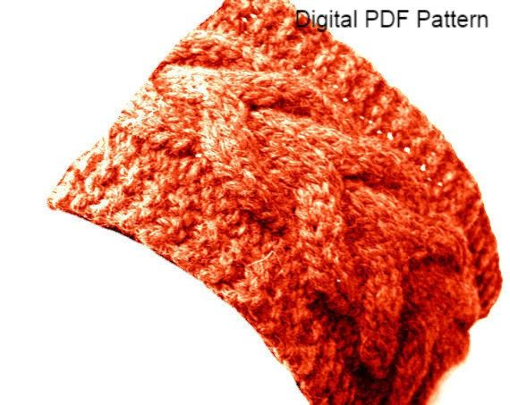Horseshoe Ear Warmer Knit Pattern Knit Braided Headband Pattern Wide Knit Headband Pattern  Level: advanced beginner It looks intrincated but it