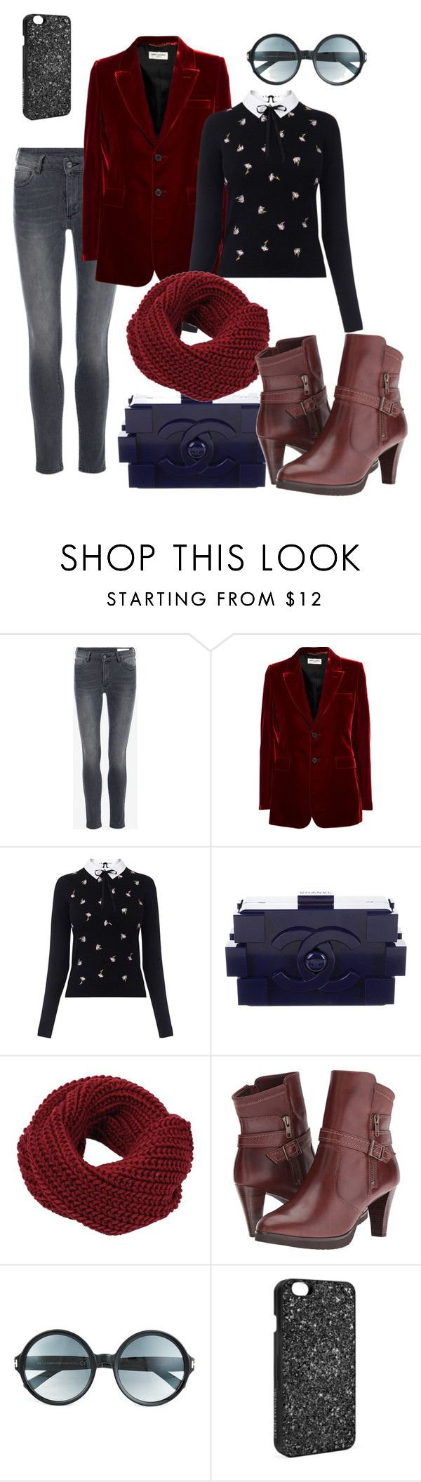 """""""La giacca in velluto"""" by valentina-viola-1 ❤ liked on Polyvore featuring Yves Saint Laurent, Oasis, Chanel, Walking Cradles, Tom Ford and Victoria's Secret"""