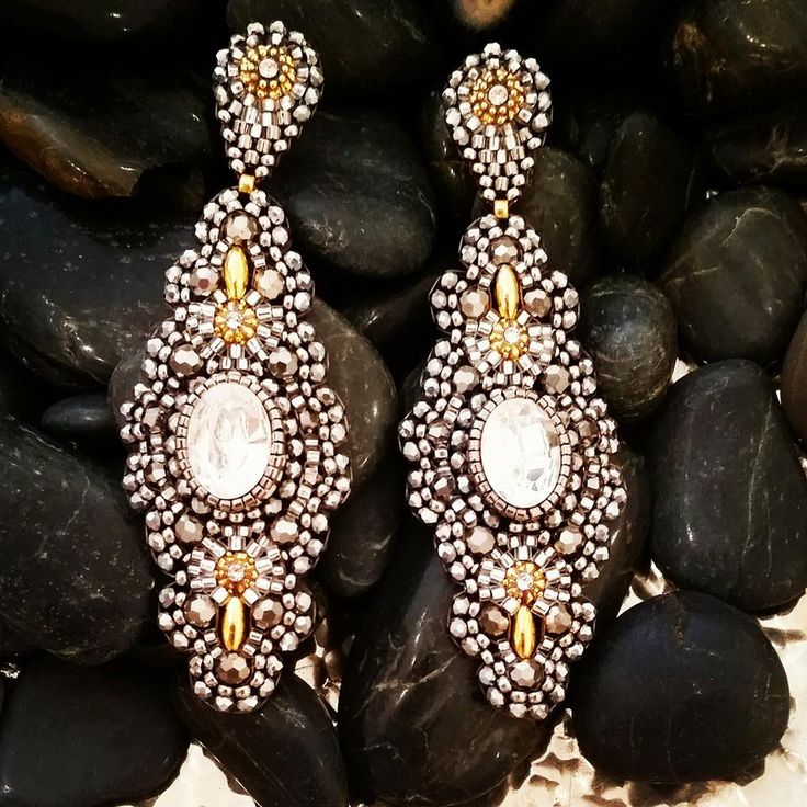 Oval Crystal #Earrings   #Shop now: http://etyandelle.com/collections/earrings