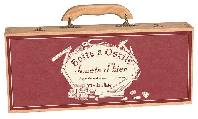 Drewniana skrzynka z narzędziami Moulin Roty 4450 | sklep z zabawkami ene-due.eu