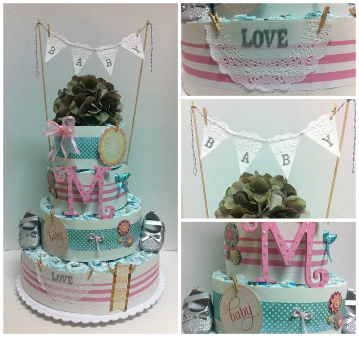 Shabby Chic Baby Shower Cake