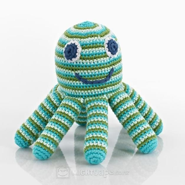 Pebble Octopus Rattle - Deep Green