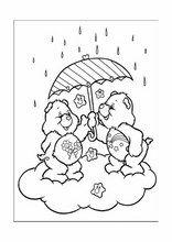 Paint tekeningen voor kinderen zorg beren