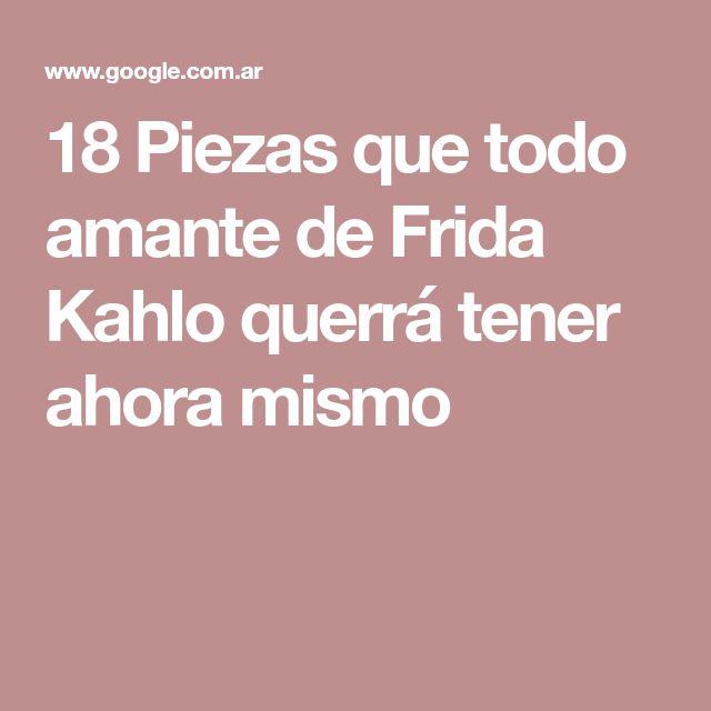 18 Piezas que todo amante de Frida Kahlo querrá tener ahora mismo