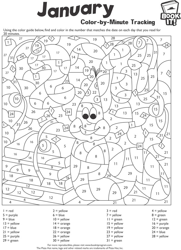Use This Fun Free Reproducible To Color In A Number That Free Reproducible Coloring Pages