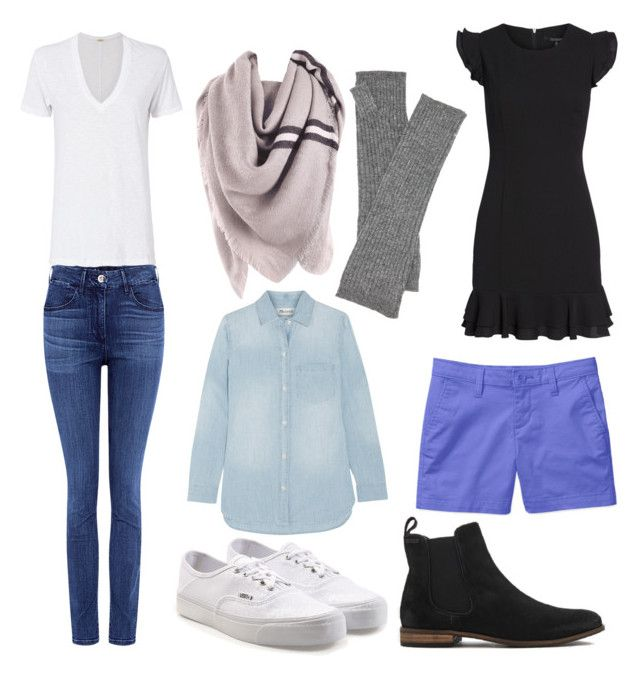 """""""Year Round Extreme Minimalist Wardrobe"""" by cheryl-eisenschmid on Polyvore featuring Paul & Joe Sister, Monrow, 19 Cooper, Hat Attack, Madewell, Vans and Superdry"""