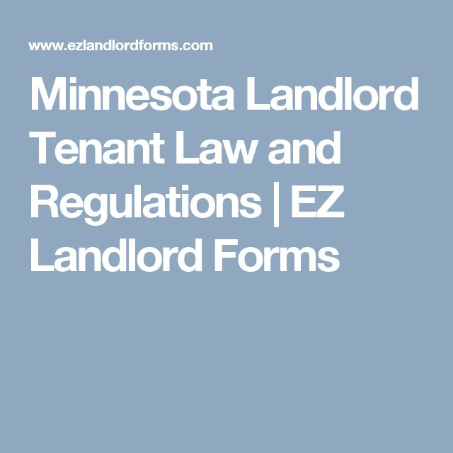 Minnesota Landlord Tenant Law and Regulations | EZ Landlord Forms