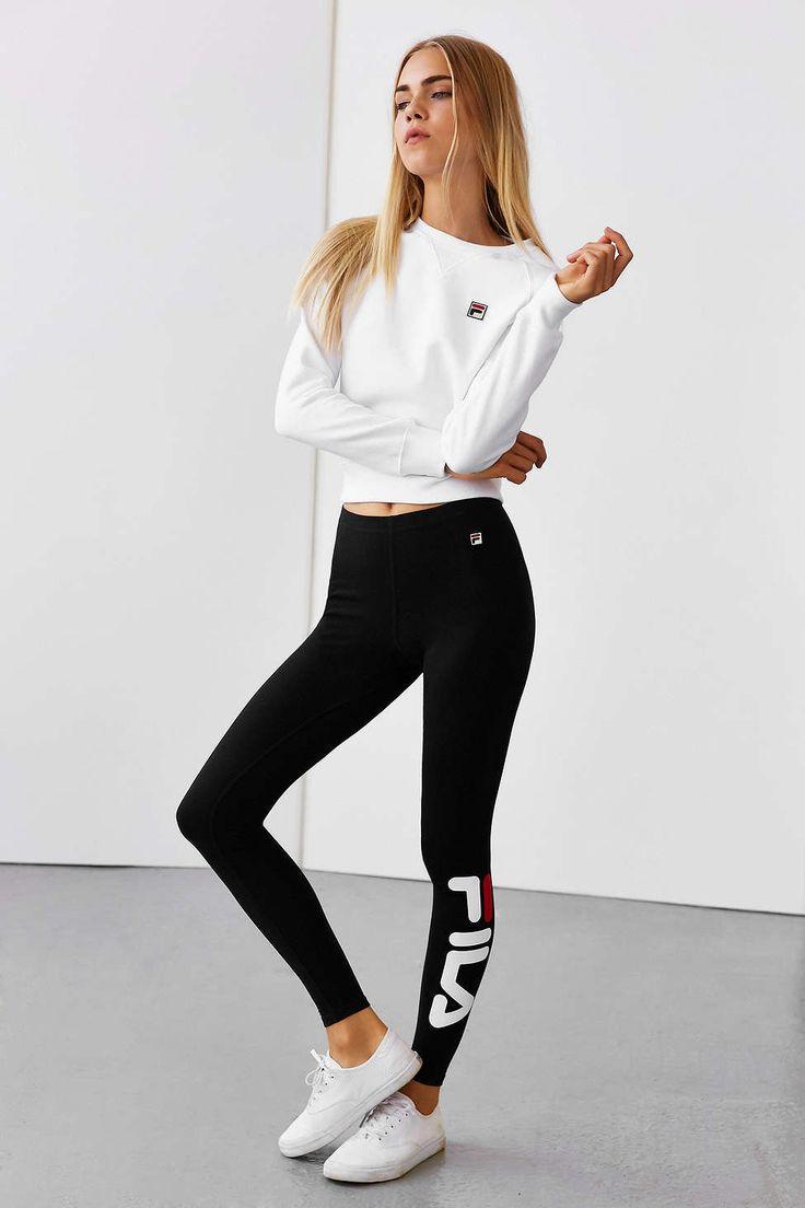 fila women clothing. fila + uo logo legging - urban outfitters fila women clothing