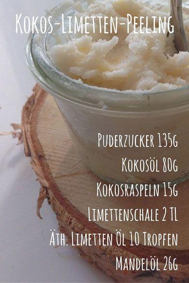 Rezept für ein DIY Kokos-Limetten-Körperpeeling