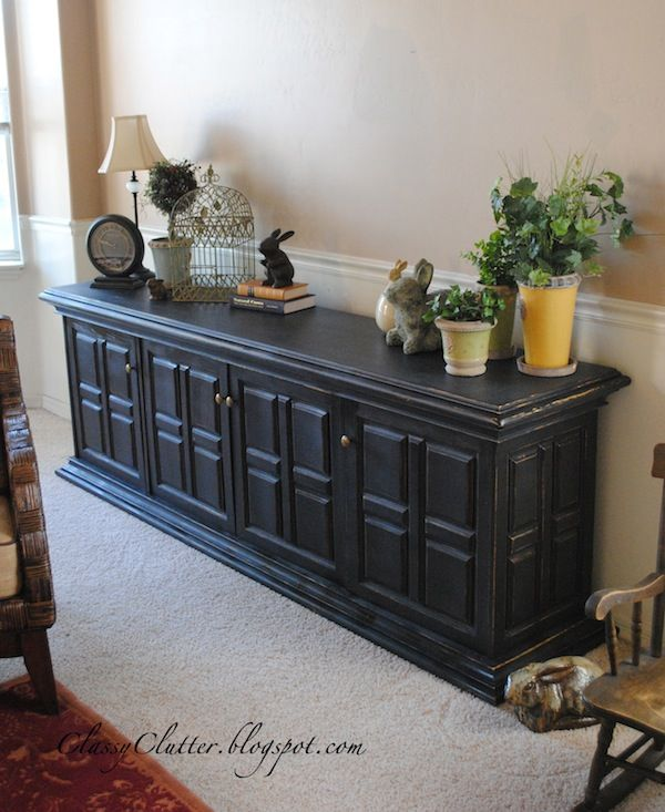 Potery Barn Furniture: Classic Black Console Makeover