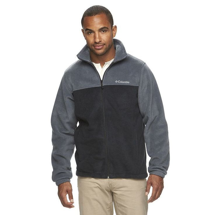 Men's Columbia Flattop Ridge Fleece Jacket, Size: Medium, Grey (Charcoal)