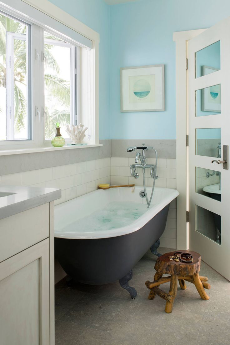 17 Stunning Coastal Bathroom Beds Ideas Blue Bathroom Tile Light Blue Bathroom Bathroom Design
